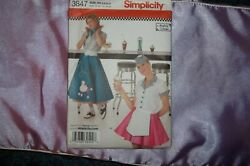 Simplicity #3847 Poodle Skirts and Tops. New.Sz Misses. HH 681012. $6.00