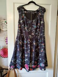 Anthropologie Plenty by Tracy Reese Stunning Floral Dress Size 14w $34.99