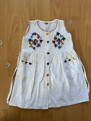Vintage Hand Embroidered Girls Dress Size 4T $13.00