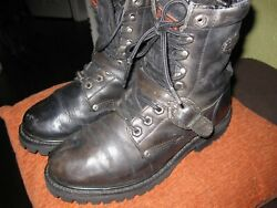WOMEN#x27;S HARLEY BOOTS SIZE 8 BLACK $40.00