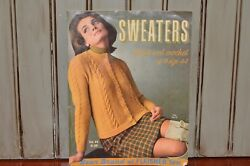 Vintage 1966 Sweaters to Knit and Crochet up to size 44 Instructions Yarn Retro $10.99