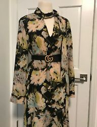 BCBGMAXAZRIA DRESS FLORAL COCKTAIL PARTY CHIC COCKTAIL WEDDING MEDIUM $298 $18.99