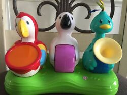 Evenflo Jungle Triple Fun 3 Birds Playing Instruments Replacement Part $8.88