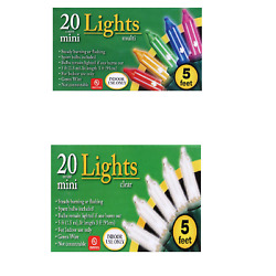 Indoor Christmas mini Lights 5 ft. Strands 20 Count Multicolor Or Clear $5.95