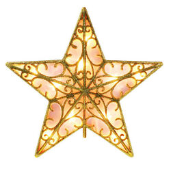 LED Light Up Star Christmas Tree Topper Tree Top Xmas Ornament Party Decorations $13.98