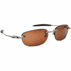 Oakley Men#x27;s Sunglasses Frame Only Why 8 Silver amp; Black Rimless Metal 55 mm $69.99