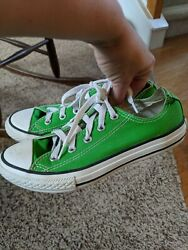 Converse All Star kids sz. 2 classic green lace sneakers. Great pair $12.74