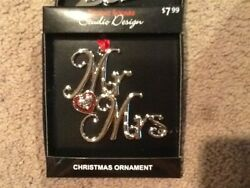 NEW STUDIO DESIGN mr and Mrs 2020 christmas ornament nib $10.99