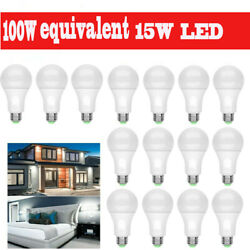 16Pack LED Light Bulbs 15W Daylight A19 6000K Dimmable E26 Replacement Lamp $28.99