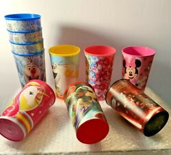 Lot of 10 Party 16oz Disney Nickelodeon Shopkins amp; Pink Unicorn Reusable Cups $9.99