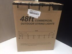 48ft Commercial Outdoor String Lights C48N 15.1