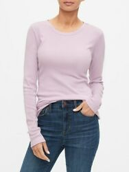 Gap Favorite Long Sleeve T Shirt Large Purple Lavender Frost $13.99
