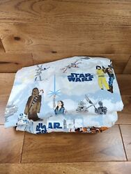 Pottery Barn Kids STAR WARS 3 Piece TWIN Bed Sheet Set Flat Fitted Pillowcase $49.99