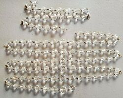 Antique Replacement Chandelier Chain Beads Glass Faceted Heavy Brass DIY $19.00
