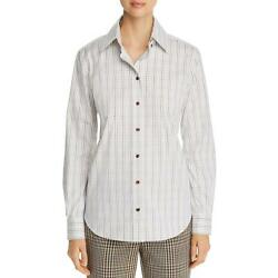 Lafayette 148 New York Womens Striped Long Sleeve Button Up Top BHFO 9930 $14.26