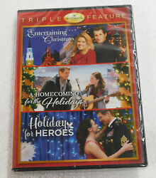 HALLMARK HOLIDAY COLLECTION DVD Triple Feature Holiday For Heroes Brand NEW $23.99