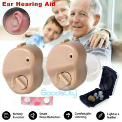USA Invisible Mini In Ear Digital Hearing Aid Sound Voice Amplifier Enhancer Ear $12.99