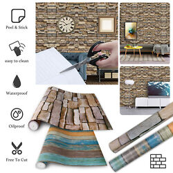 9.8ft 3D Wallpaper Brick Pattern Self adhesive Stone Stickers Background Wall US $13.98