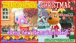 Animal Crossing:New Horizon All NEW Christmas and Thanksgiving Update 1.6 DIY $7.99