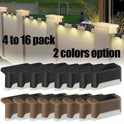 4 16Pcs Solar LED Bright Deck Lights Outdoor Garden Patio Railing Path Lighting $20.99