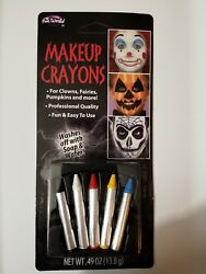 Halloween Face Grease Makeup Sticks Crayons Multicolor Pack Theatrical Stage NEW $3.68