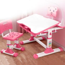 Height Adjustable Desk and Chair Set School Student Children Kids Study Table $84.54