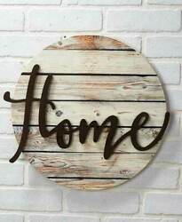 Home Wall Decor Wood Art Sentiment Plaques Rustic Signs Love Gather Home or Pray $23.73