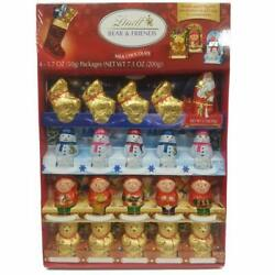 Lindt Holiday Milk Chocolate Figures Novelty Pack 7.1 Oz. NEW EXPEDITED SHIPPING $29.99
