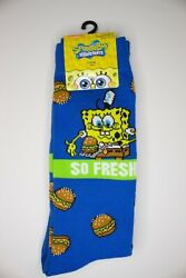 Spongebob Crew Socks Adult Shoe Size 6.5 12 Socks 1 pair $10.40