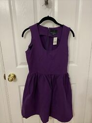 Cynthia Rowley Women Purple Dress 8 With Pockets $64.00