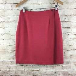 Tommy Bahama Pink 100% Silk Wrap Straight Skirt Size 6 $23.99