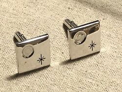 Vintage Silver Tone Moon And Star Cufflinks $10.00