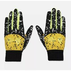Nike ACG Gloves Men's Size L All Condition Insulated Gloves Black Yellow $39.99