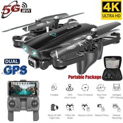 Drone 4K HD Dual Camera 5G WiFi Quadcopter FPV GPS Foldable Professional Drone $178.98