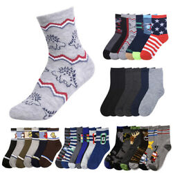 12 Pairs Assorted Boys Socks Size Ages 6 8 Years Kids Casual Sport Wholesale Lot $14.99