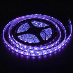 16FT 5050 Ultraviolet UV Purple LED Strip Light 300LED Waterproof IP65 DC 12V