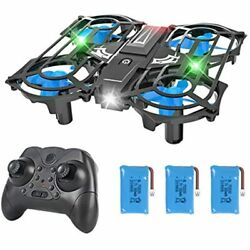 HEYGELO H56 Portable Mini Drone For Kids With Light Up LEDs RC Small Quadcopter $53.08