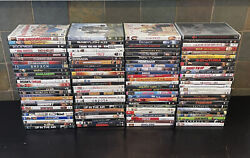 Lot of 100 Used ASSORTED DVD Movies 100 Bulk DVDs Used DVDs Lot Wholesale FAST $44.99
