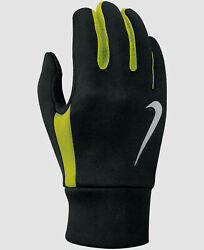 NEW $85 Nike Men#x27;s Black Thermal Running Touch Screen Warm Winter Gloves Size L $15.36
