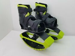 Madd Gear Boosters Bounce Shoes Size 3 6 Black Green Bouncing Boots A130 $28.22