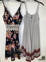 2 new Small Womens Juniors Rue 21 Colorful Dresses $19.99