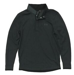 Under Armour UA Storm Golf Sweater Fleece Snap Button Mock Neck 1 4 Pullover $36.99