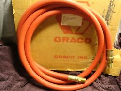 Unused Graco High Pressure Hose 10#x27; X 1 2quot; #61 209 D WPR 175 PSI 12 Bar USA Red $44.99