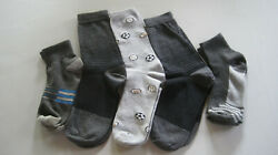 5 Pairs Assorted Boys Socks Size Ages 6 8 Years Kids Casual Sport Youth New $5.00