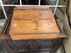 ANTIQUE VINTAGE DESK TOP WRITING SLOPE BIBLE PINE BOX $295.00