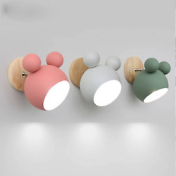 Modern Macaron Wall Lamps Led Wall Sconce Mickey Light Fixtures Bedside Lighting $39.99