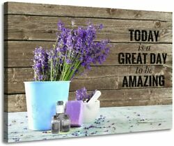 Bathroom Decor Purple Wall Decor Inspirational Quotes Modern Lavender for Bathro $27.99