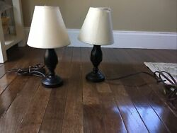 Set of 2 Small Lamps Oil Rubbed Bronze $15.00
