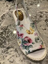 New Cliffs By White Mountain Women#x27;s Chyme Floral Fabric Sandal 7.5 HTF Sold Out $18.00