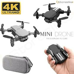 4K Mini Drone Camera Selfie wifi fpv Air Presure Altitude Foldable Quadcopter rc $47.00
